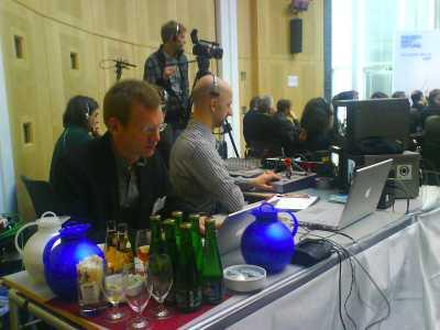 Livestream-Zentrale bei der FES
